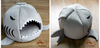 Shark Shaped Round House for Pets