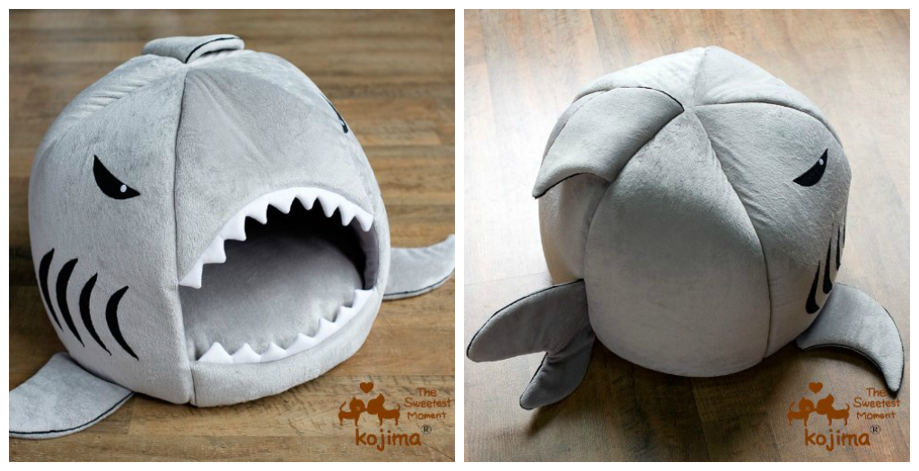 Shark Shaped Round House Pet Bed