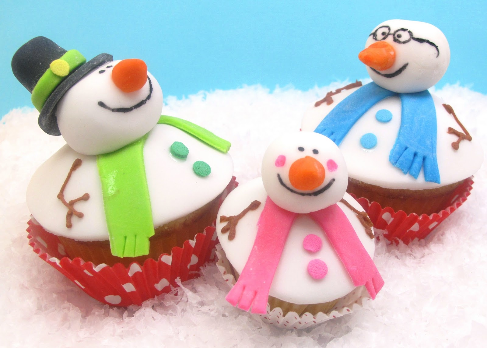 Snowman Holiday Special Cup Cakes
