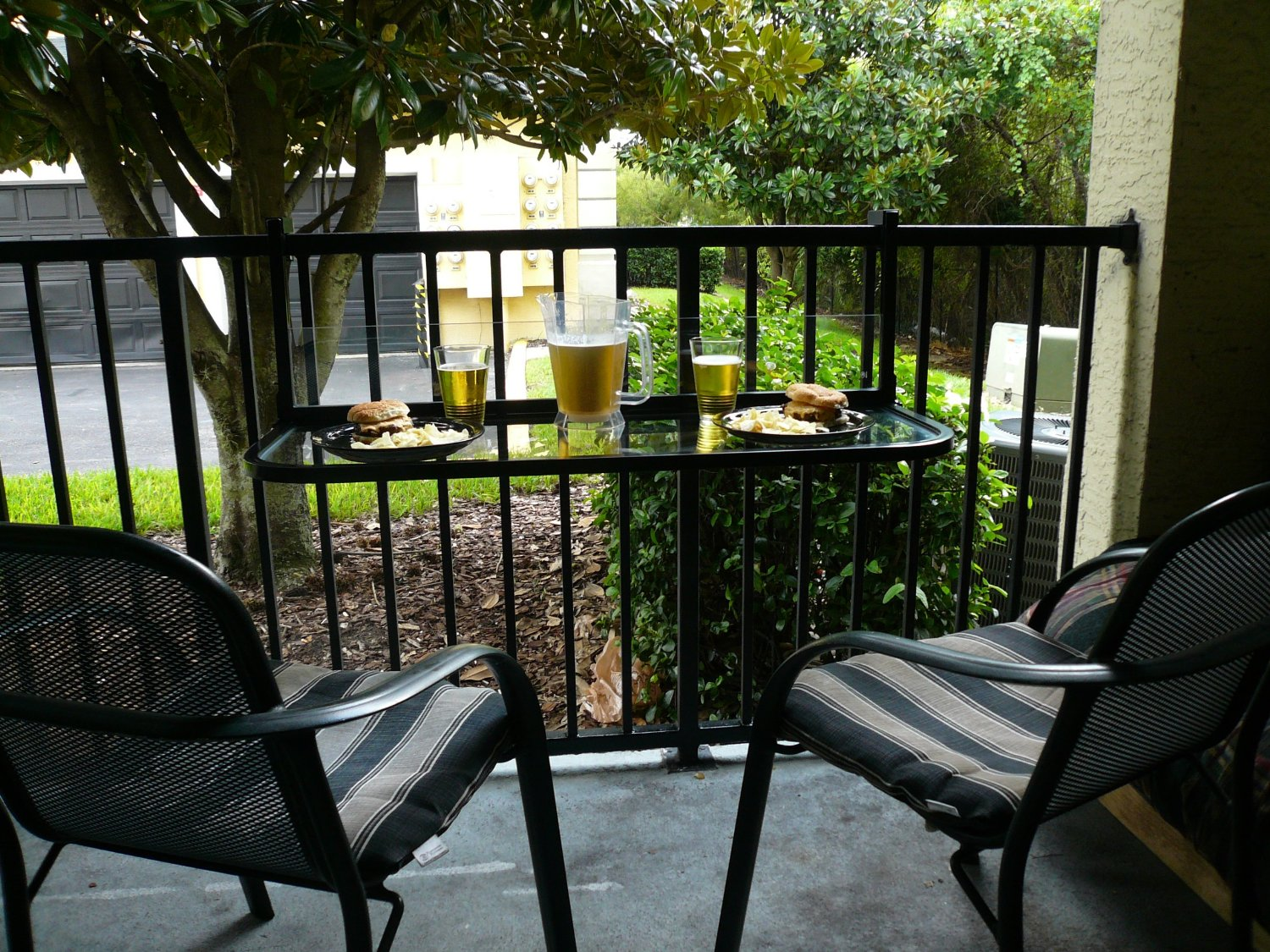 Space Saving Folding Balcony Bar Table