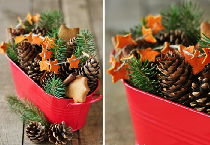 Star Orange Peel Garland Centerpiece