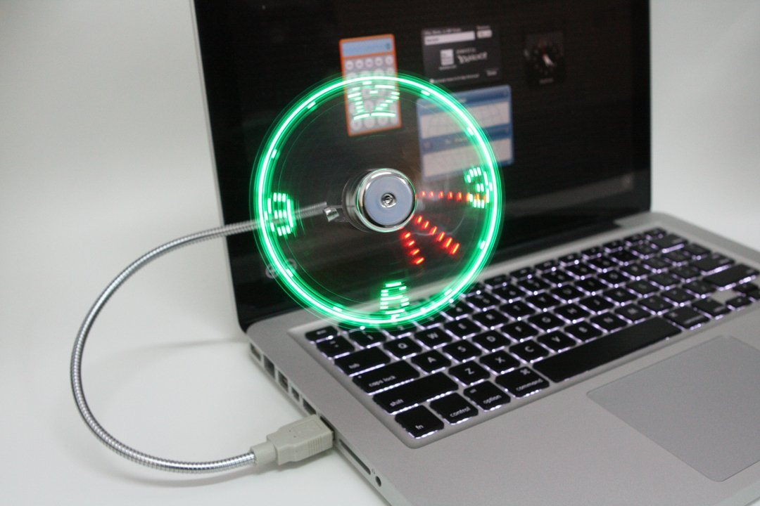 USB Fan & Clock for Laptops