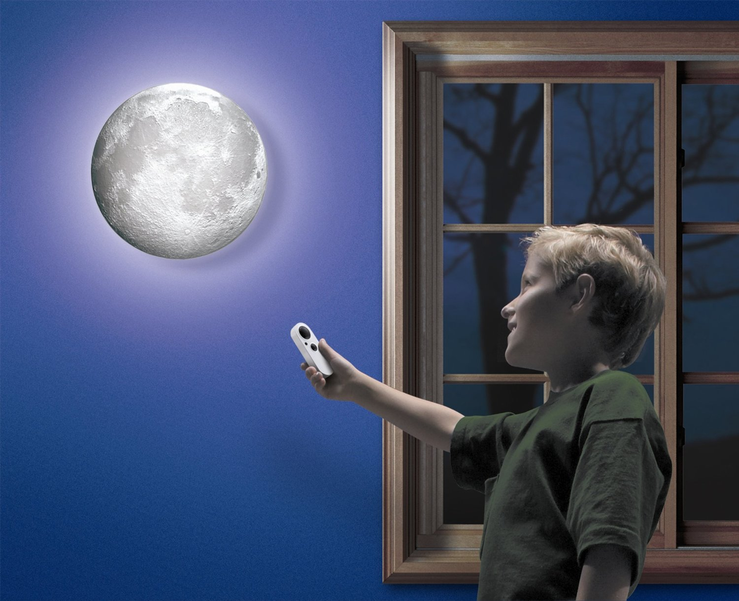 Realistic Moon Wall Light