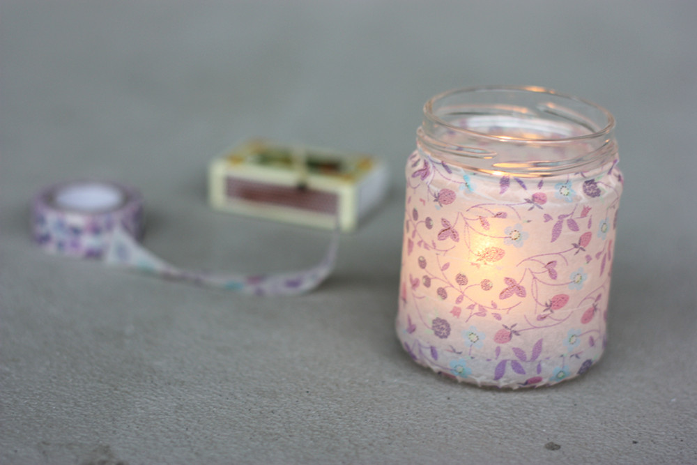 Washi Tape Candle Holder