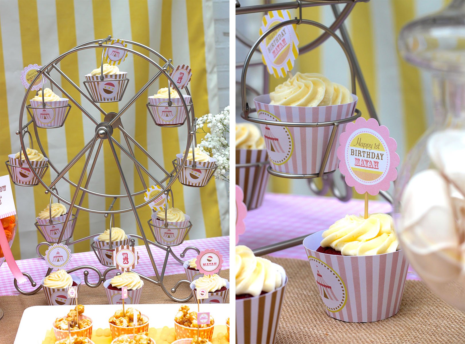 Stylish Wheel Cupcake Server