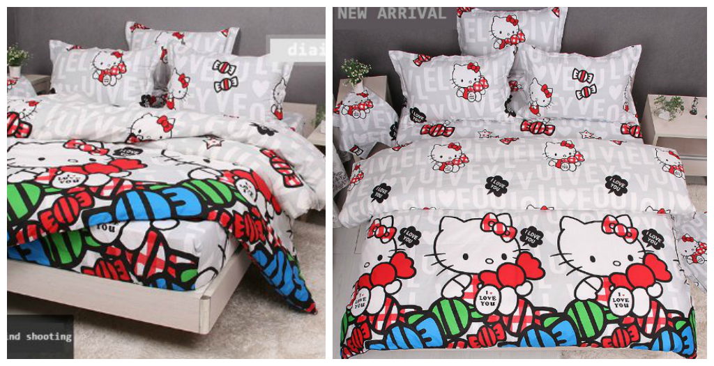White Hello Kitty Bedding
