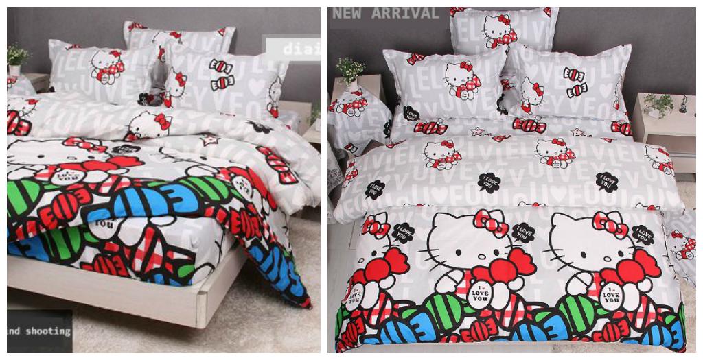 White Hello Kitty Bedding