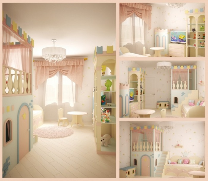 White Princess Themed Kids Room