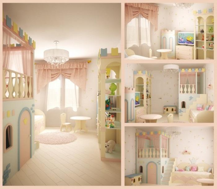 White Princess Themed Kids Room