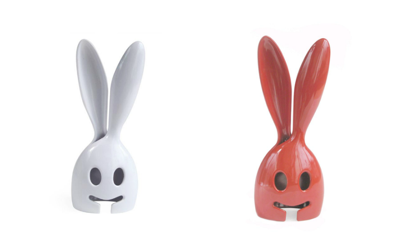 White & Red Bunny Salad Server