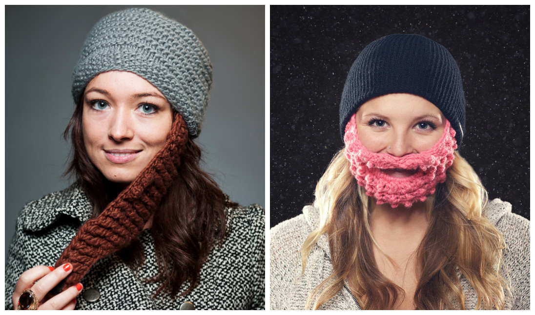Winter Beard Hat for Girls