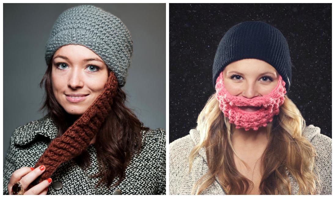Winter Beard Hat for Girls