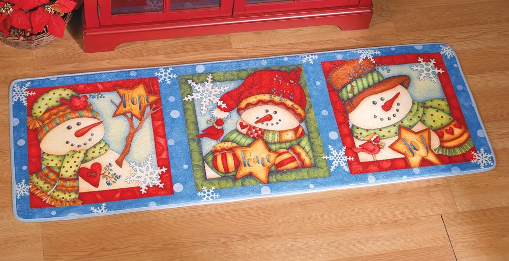Winter Snowmen Floor Runner Rug