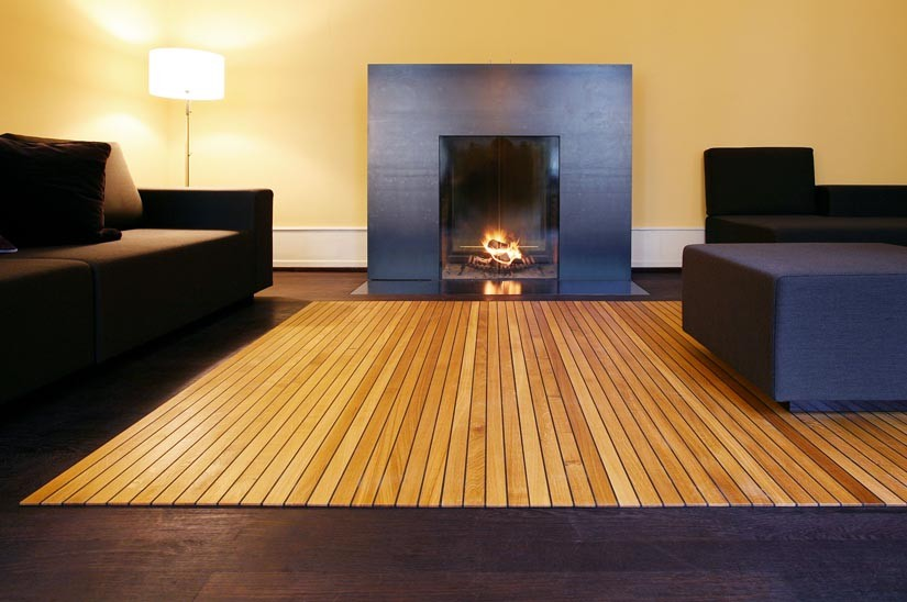 Wooden Floor Rug for Living Room