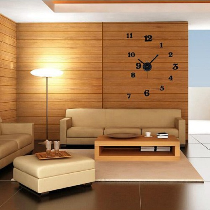 Black Arab Numerals Room Wall Clock