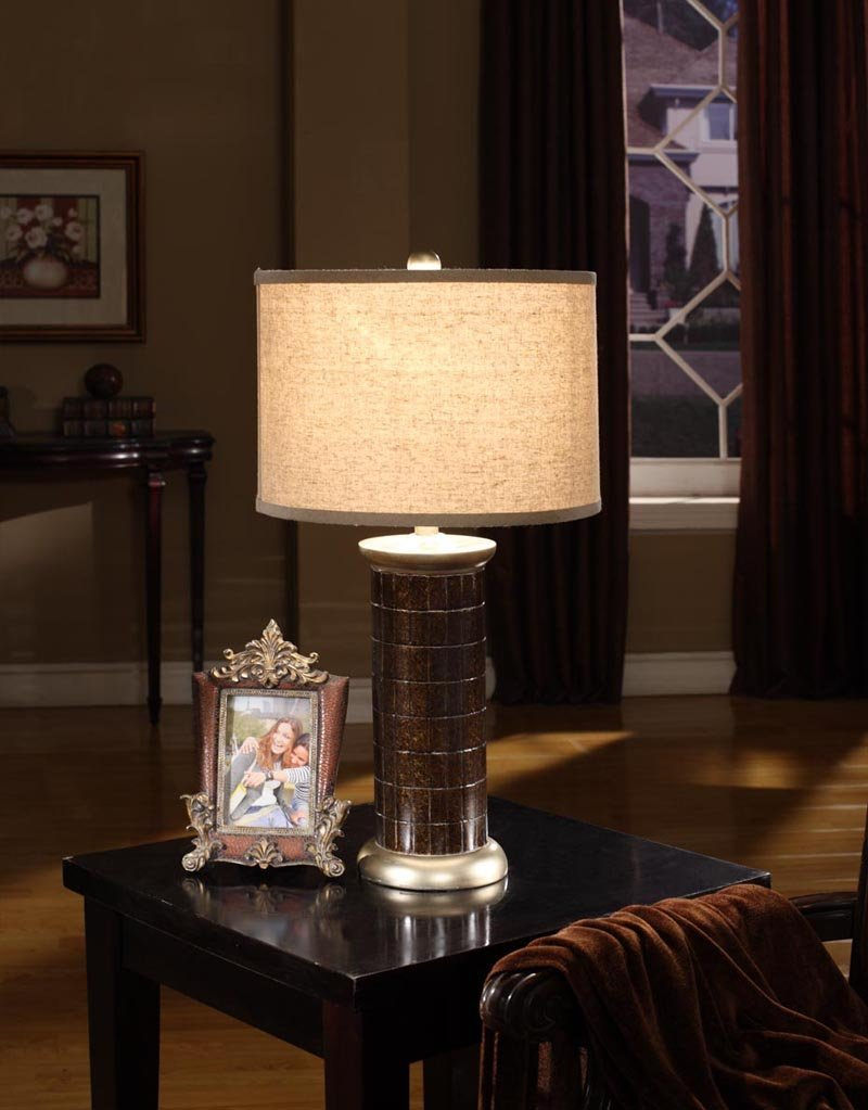 Golden Table Lamp With Shade