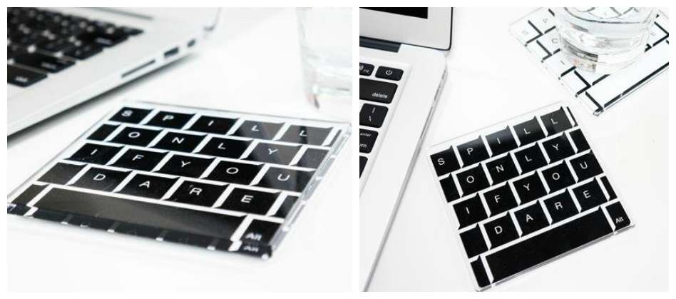 Keyboard Pattern Coasters
