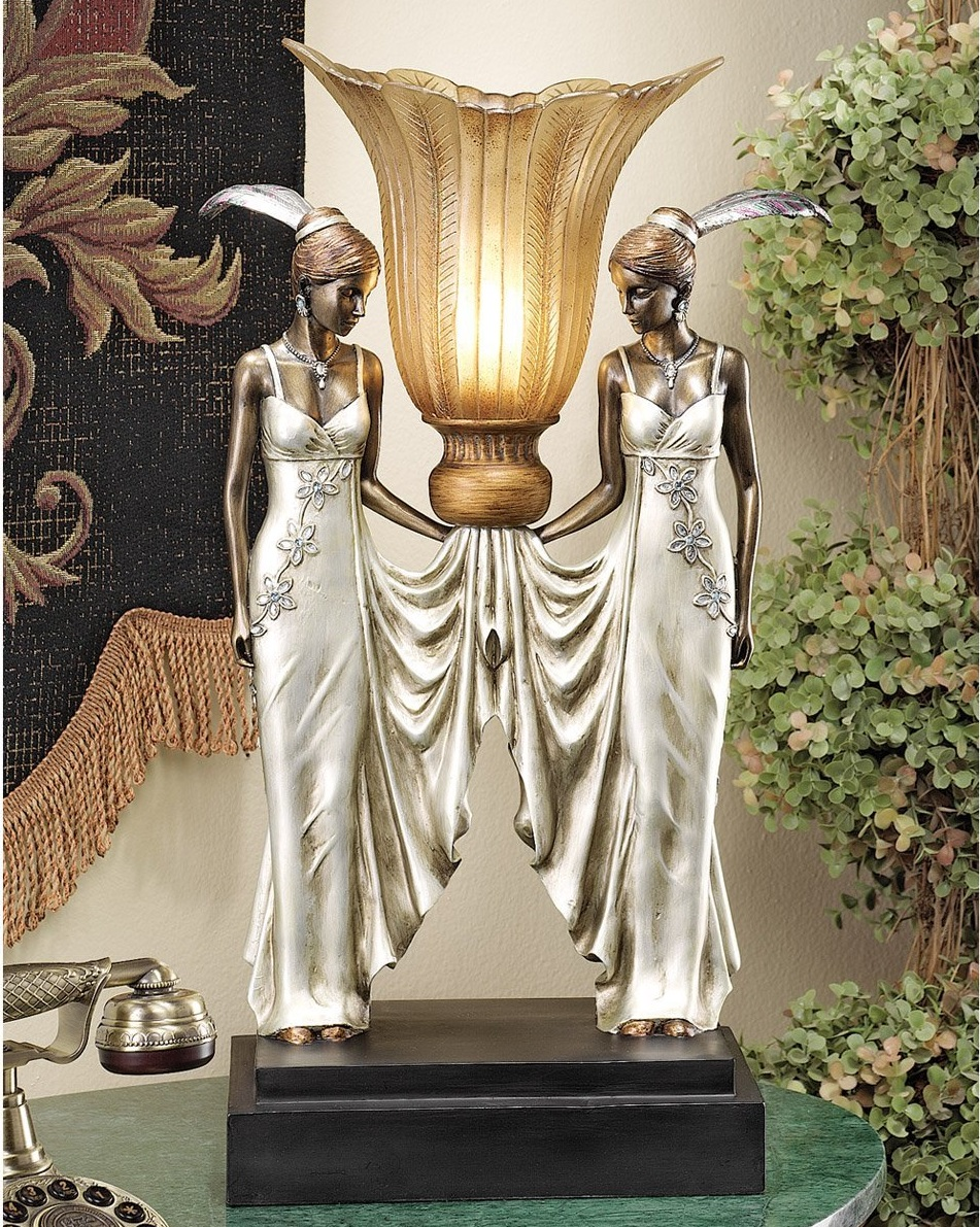 Maidens Statue Table Lamp