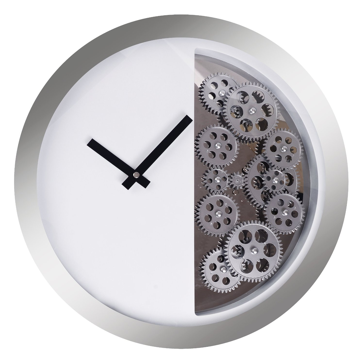 Modern Moving Gear Wall Wheel Clock