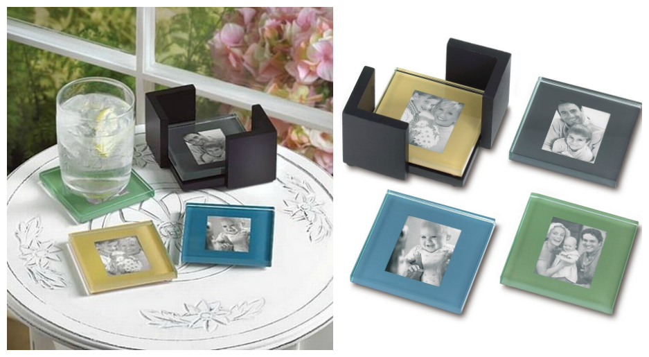 Multi-Color Glass Photo Coasters