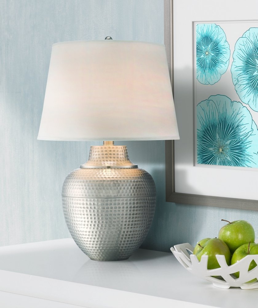 Pot Brushed Table Lamp