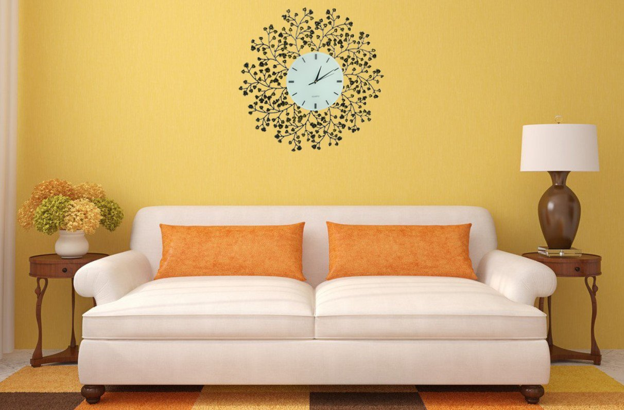 Large Decorative Wall Clocks. Adalene Inch Large Nonticking Silent ...