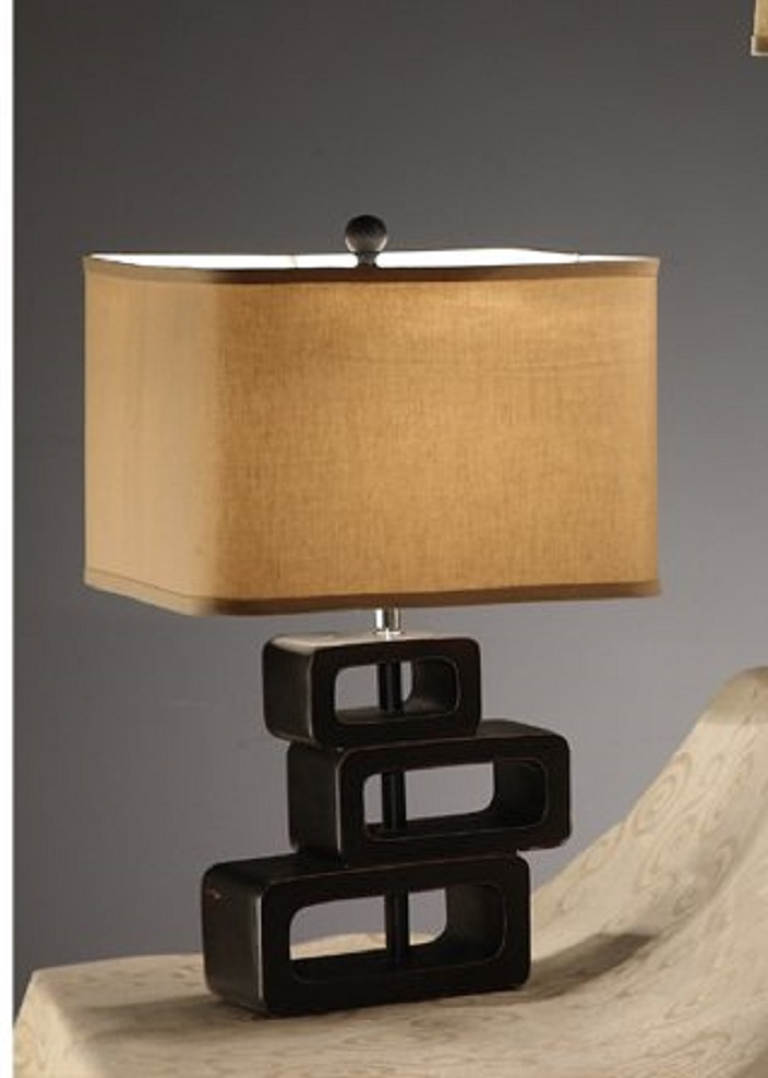 Table Lamp With Rounded Square Base