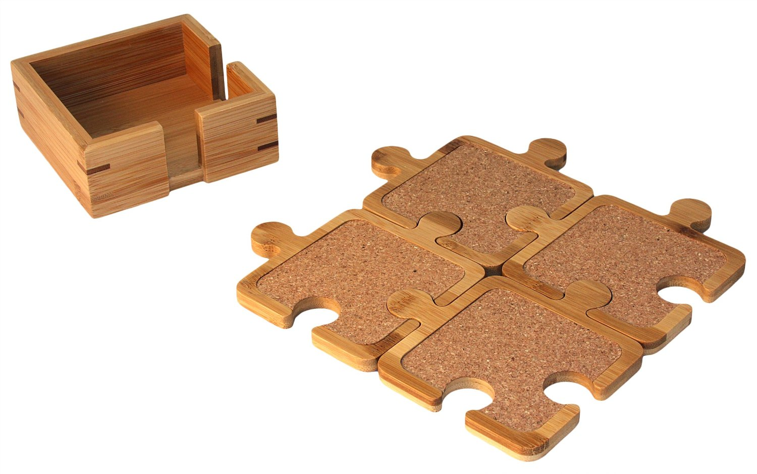 Totally Bamboo Puzzle Coasters