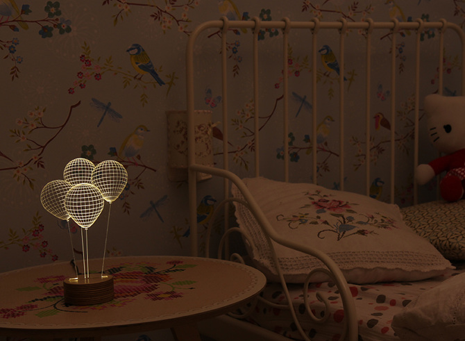 Baloons 3D LED Lamp for Kids Room