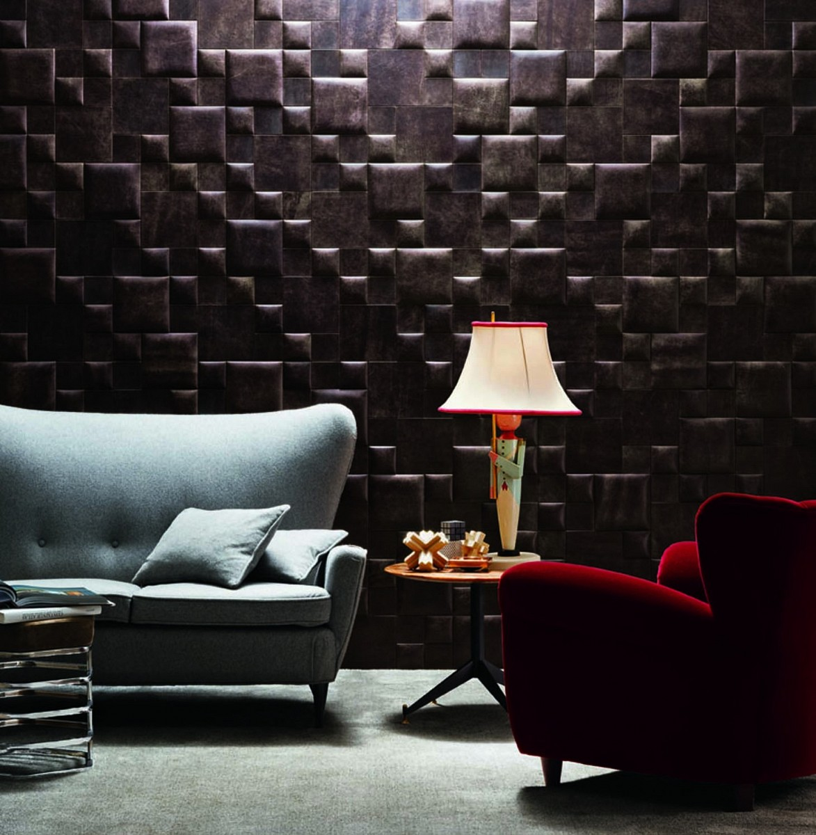 Elegant Leather Wall Patterns Home Designing
