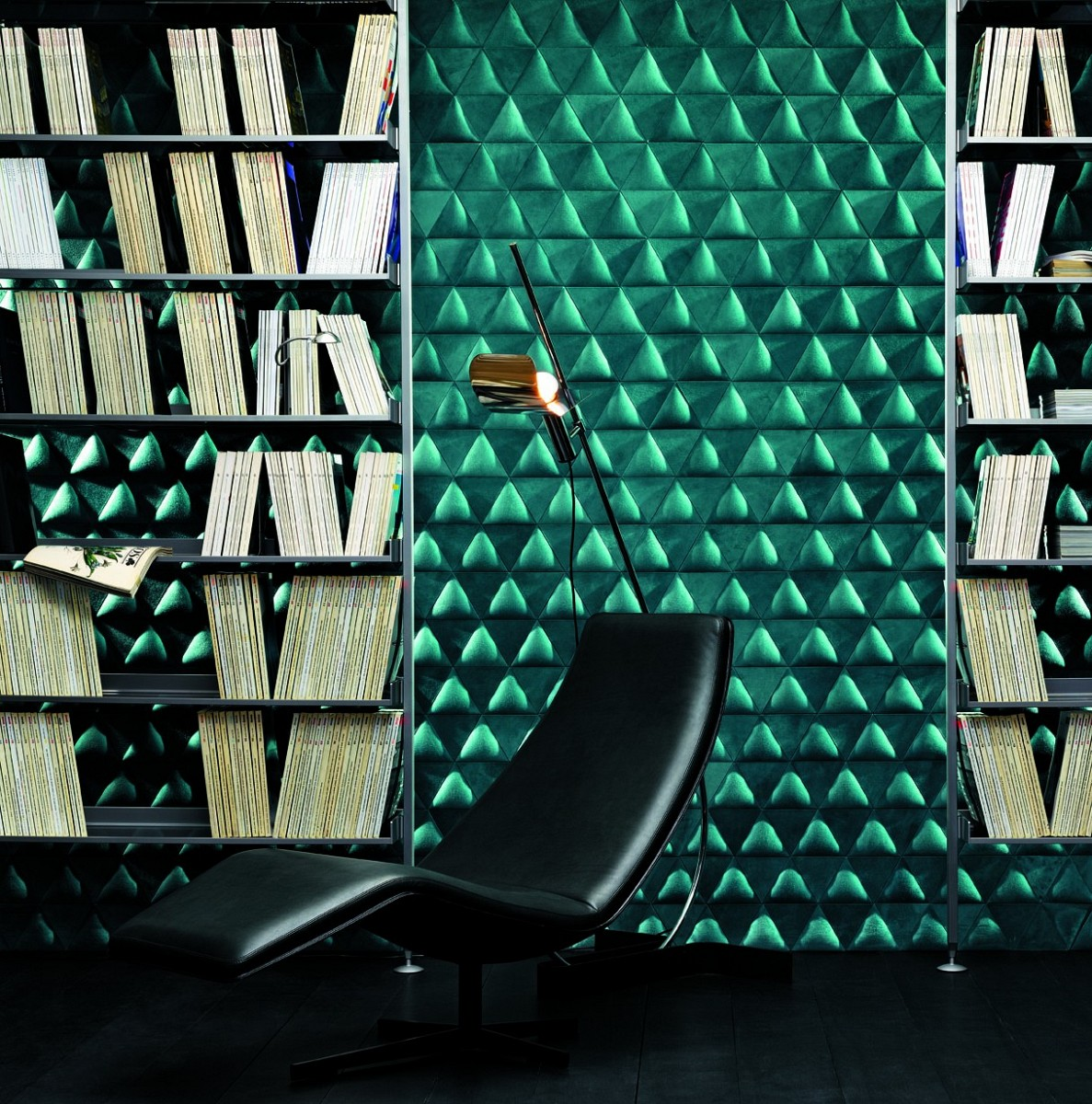 Green Triangular Wall Pattern