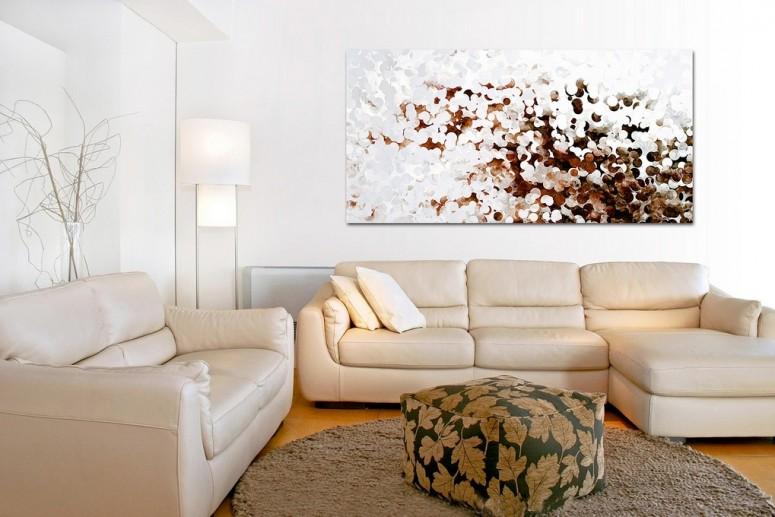 L Shaped Cream Sofa