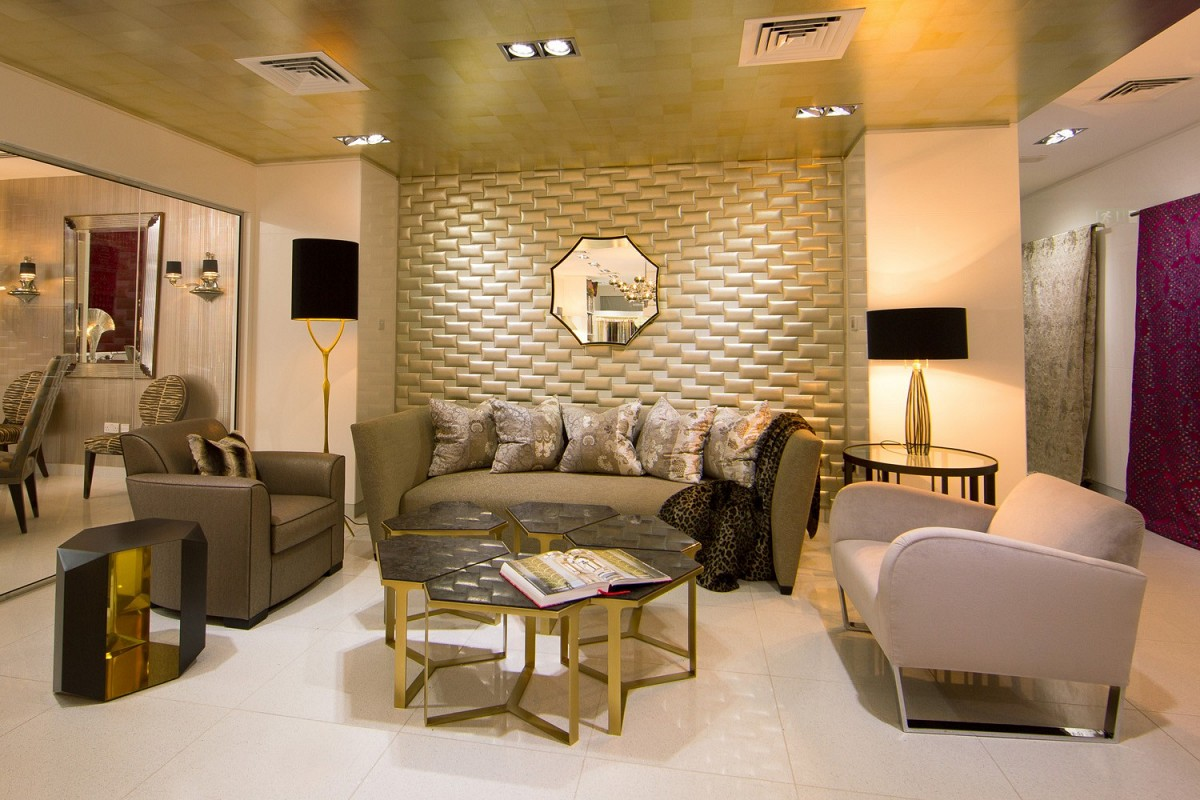 how to build a luxurious wall to wall leather wall patterns home designing 71480