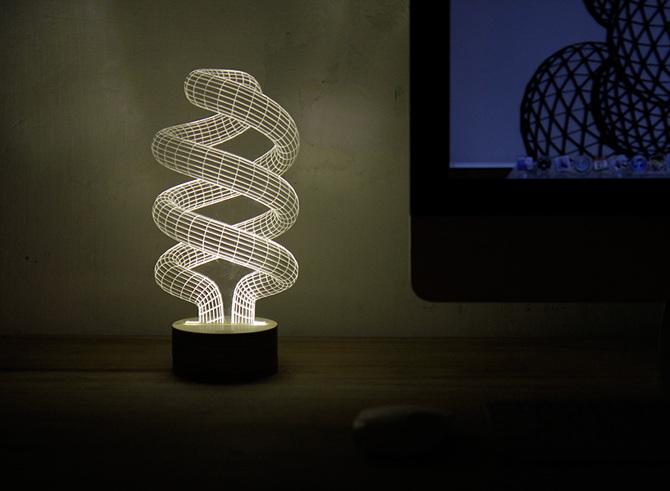 Spiral 3D LED Bulbing