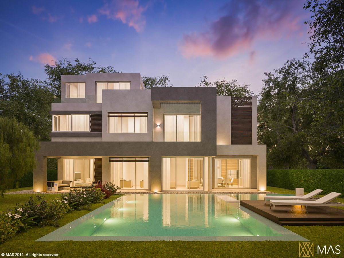 Home with front pool