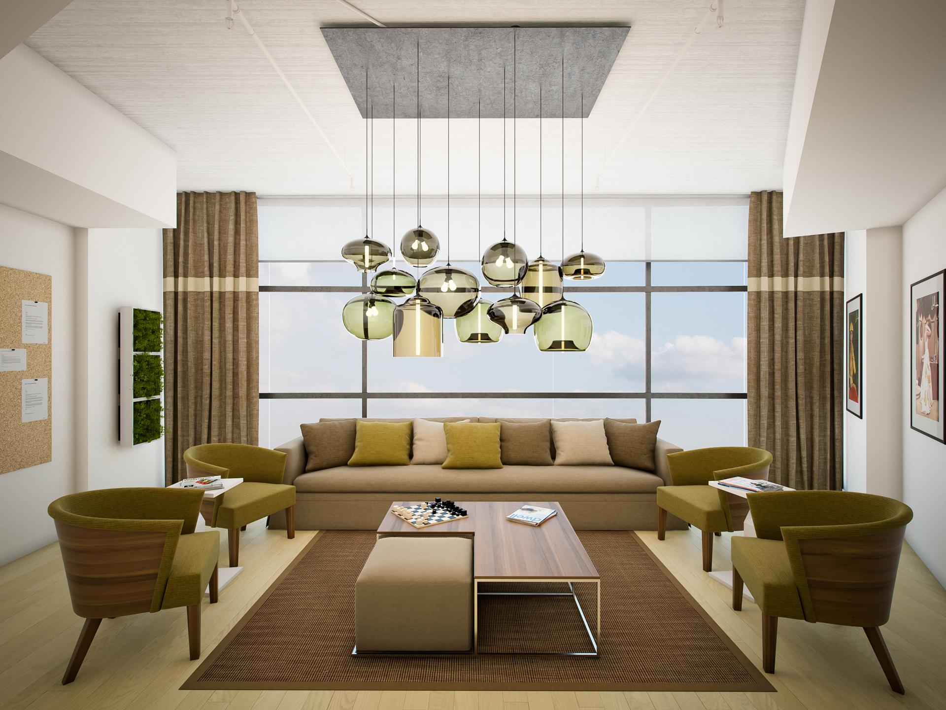 White Green Living Room