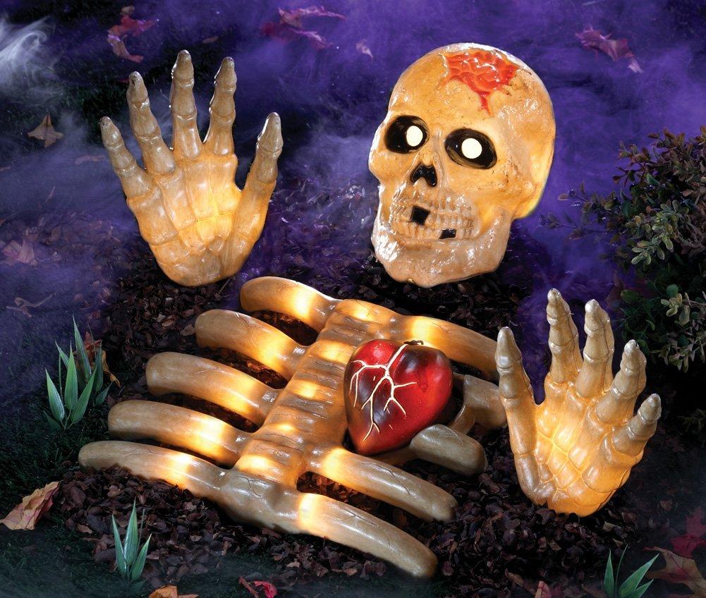 Led Lighted Halloween Skeleton Groundbreaker Yard Decoration