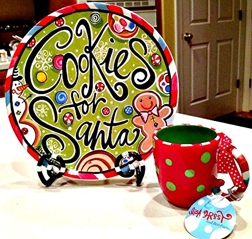 Bright Color Cookies for Santa Plate Mug Set