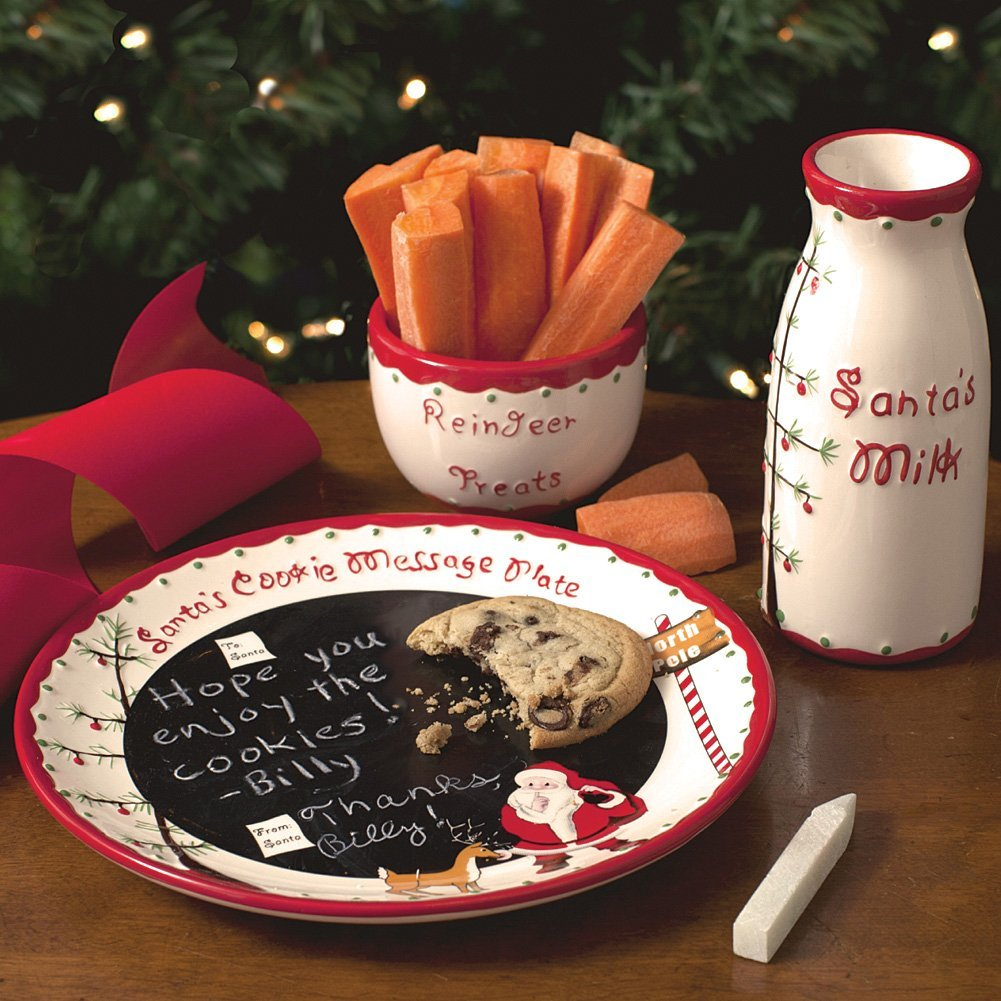 Santa\u0027s Message Plate Set & Naughty \u0026 Nice Santa Cookies Plate and Mug Set | Home Designing