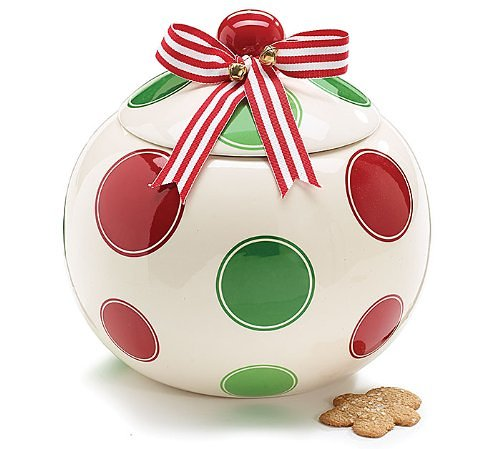 Christmas Ornament Shaped Cookie Jar Storage Jar