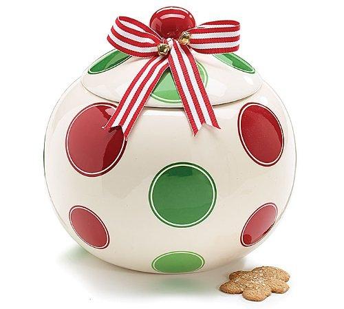 Christmas Ornament Shaped Cookie Jar Storage Jar