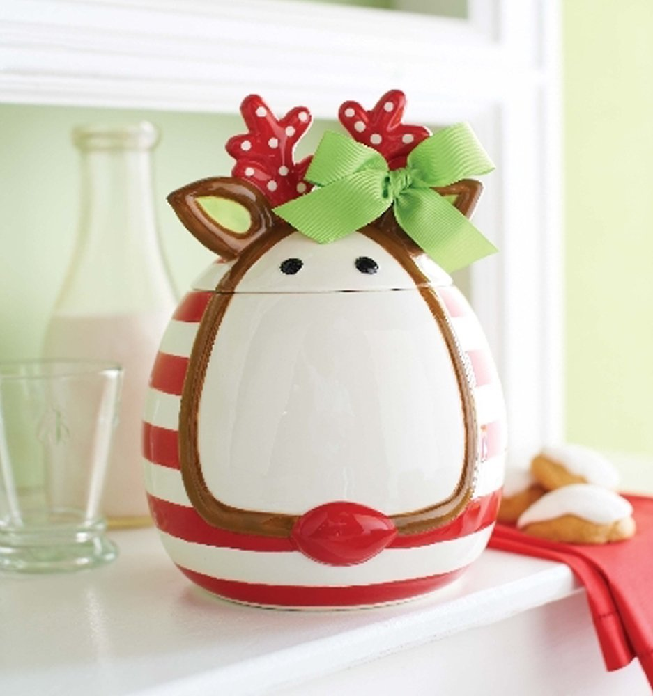 Christmas Reindeer Cookie Jar
