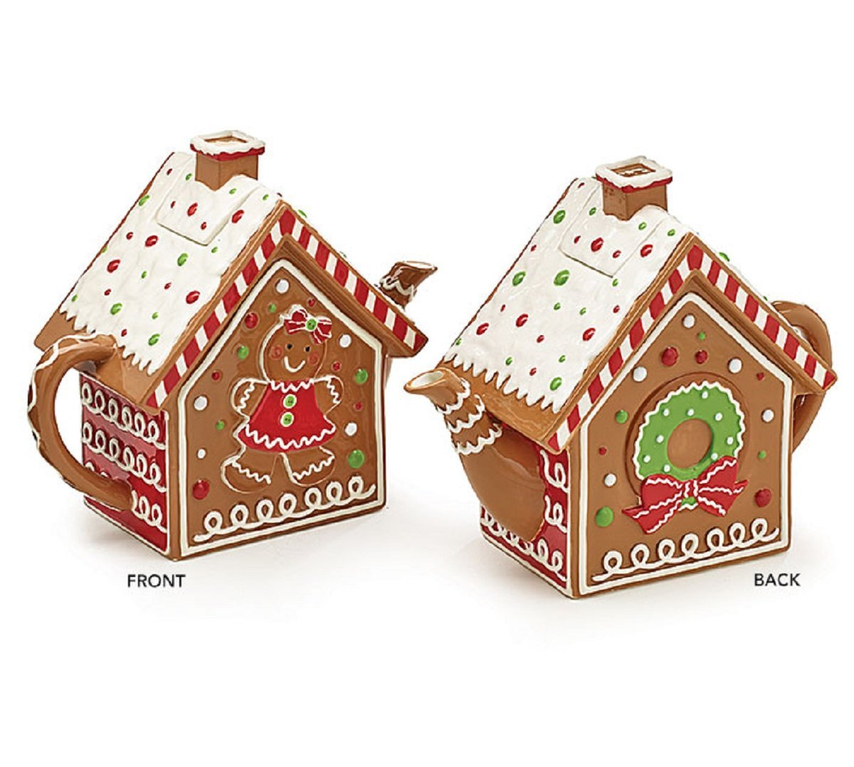 Gingerbread House with Snow Covered Roof for Cookie Storage
