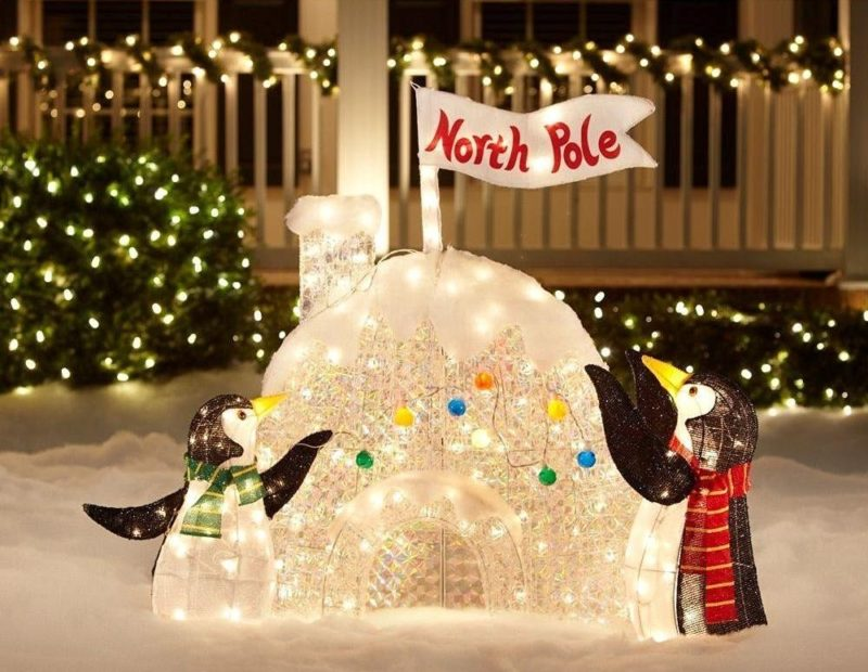 North Pole Igloo Outdoor Christmas Decoration