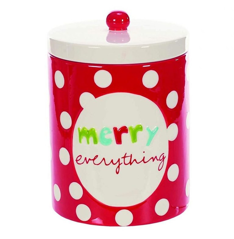 Red Polka Dot Cookie Jar