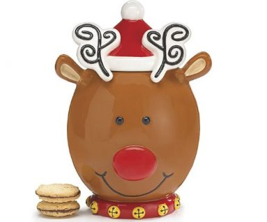 Reindeer Cookie Jar For Holiday Treat