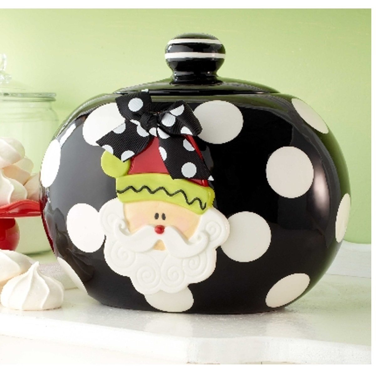 Santa Cookie Storage Jar