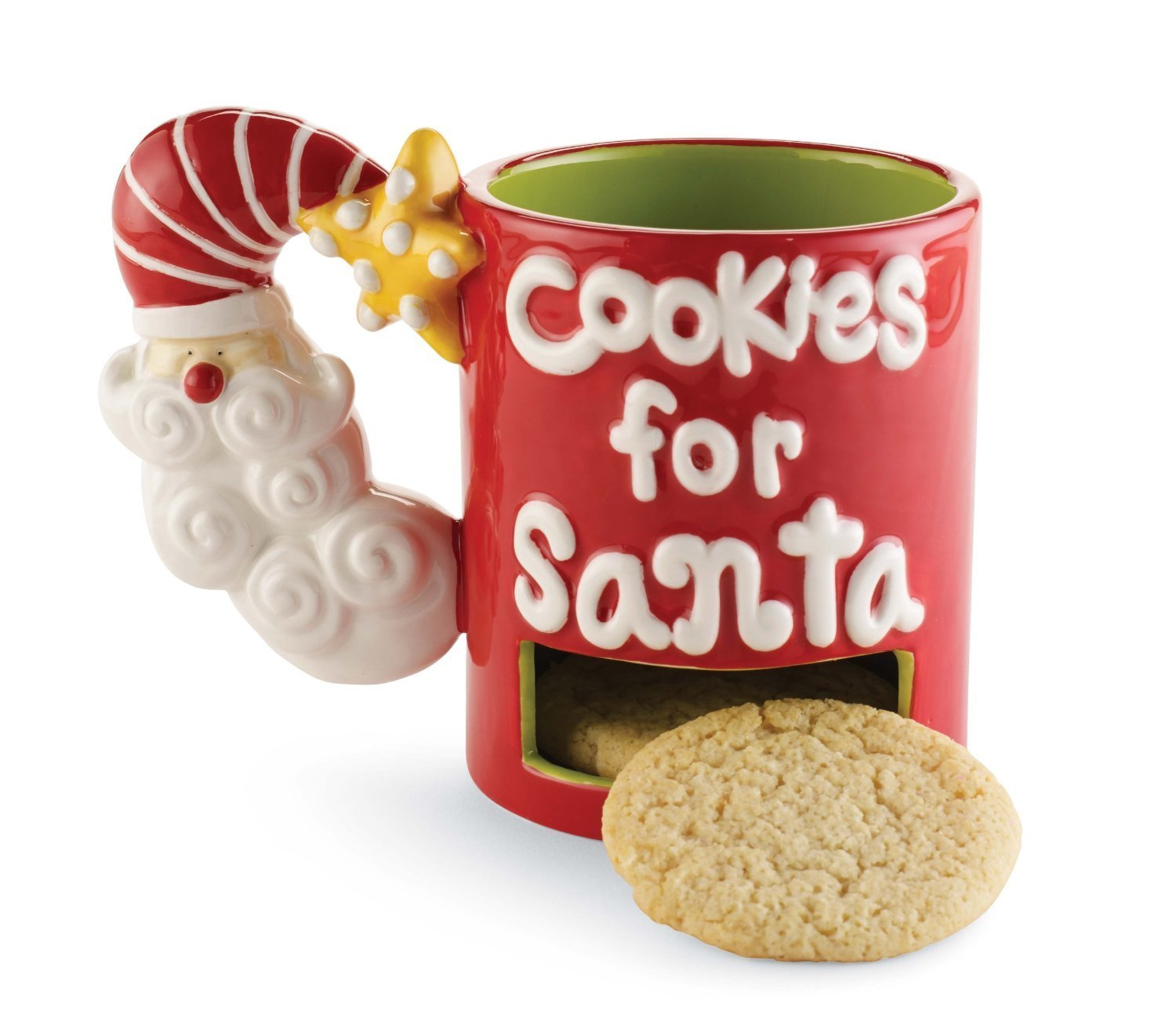 Santa Mug with Cookie Container