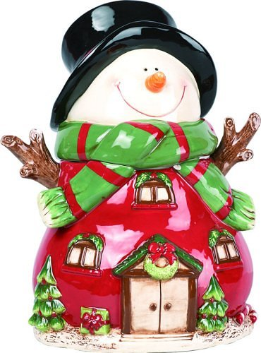 Snowman Holiday Christmas Cookie Jar