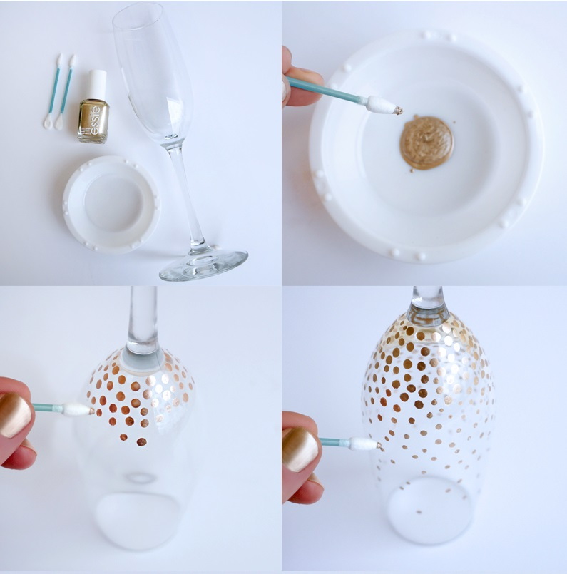 DIY Champagne Glasses
